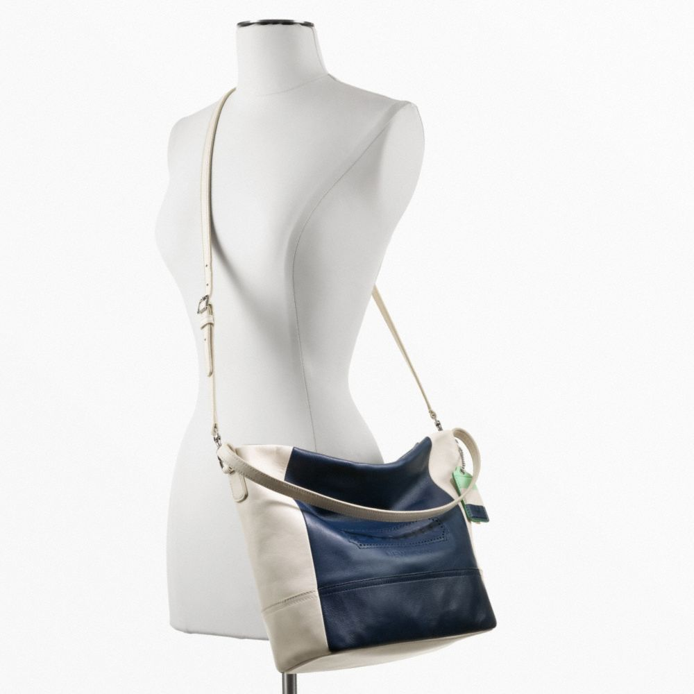 Legacy Weekend Colorblock Leather Shoulder Bag 24