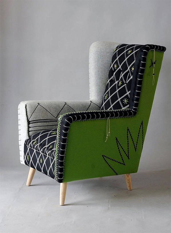 Interiors by jacquin mix things up with embroidery in for African american furniture designers