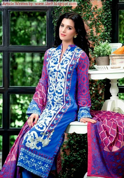 Gul Ahmed Winter 2014 | Gul Ahmed Pali Collection 2014 Catalog
