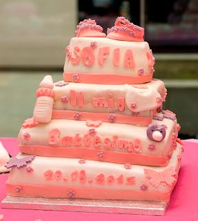 la torta di battesimo e la crema pasticcera al cioccolato
