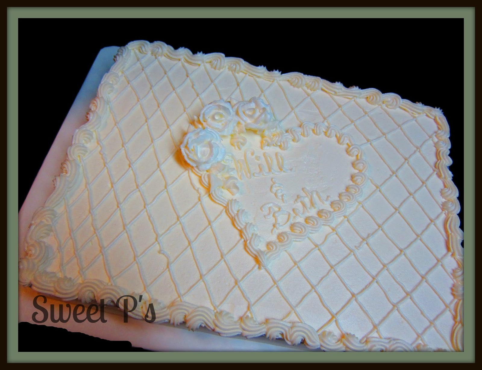non traditional wedding cakes sweet p 39 s cake decorating baking blog. Black Bedroom Furniture Sets. Home Design Ideas