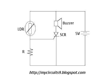 simple over light alarm circuit diagram