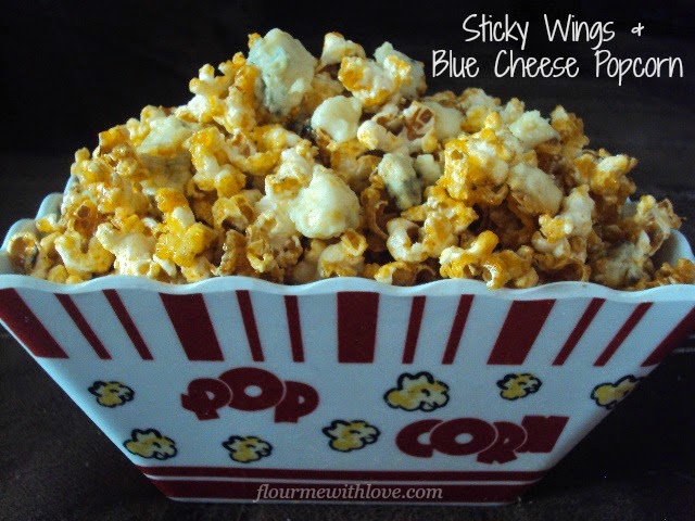 sticky-wing-sauce-blue-cheese-popcorn-flourmewithlove.com