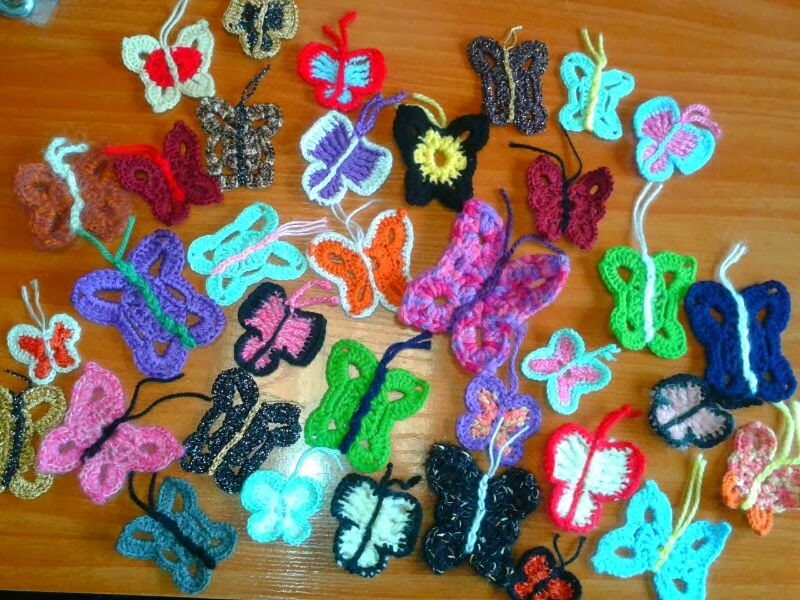 Mariposas  crochet solidarias
