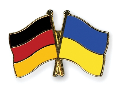 Germany vs Ukraine football Flags