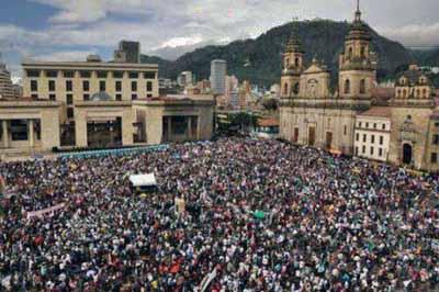 Kolombiya: Yurtsever Yürüyüş Bildirgesi, 26 Temmuz 2012