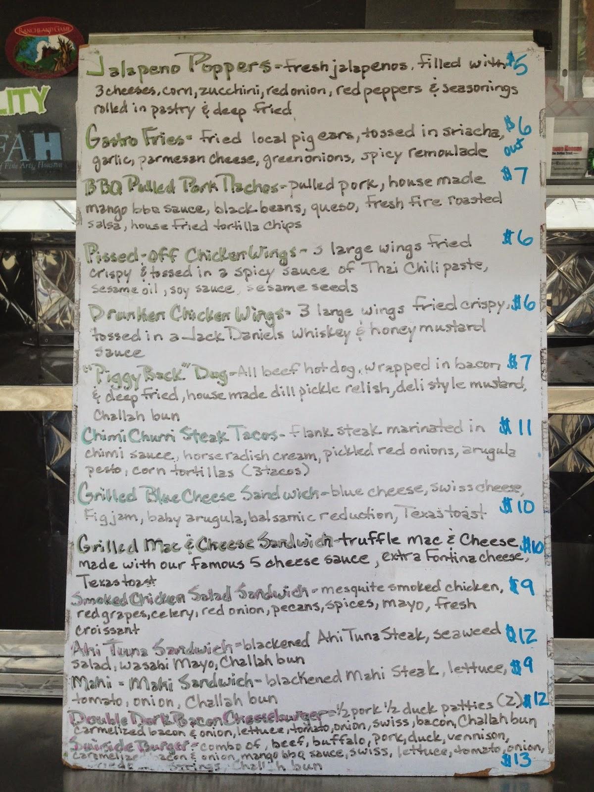 Gastro Punk Food Truck Menu , Houston TX