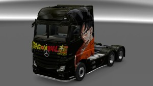 Black Goku Dragon Ball Z Mercedes MP4 Skin