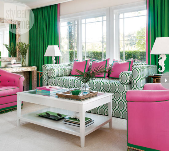 house receives a palm beach inspired palette thanks to the homeowners who are not afraid to go bold lets check out this chic and preppy home below