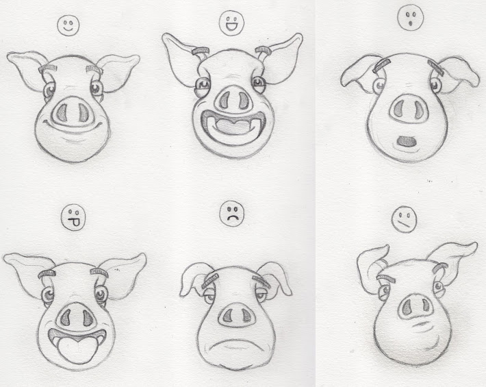 Expressions of a pig