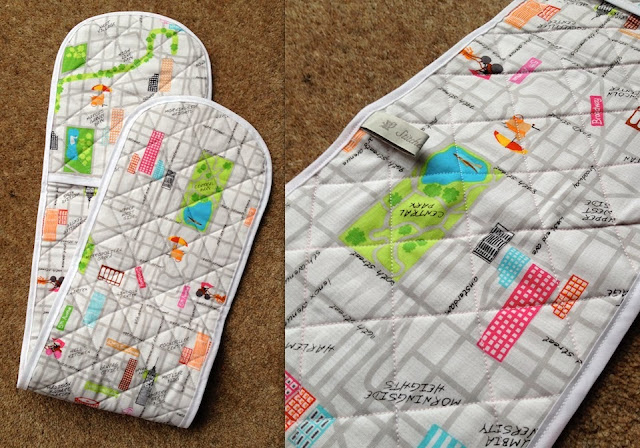 Diary of a Chainstitcher New York Fabric Oven Gloves