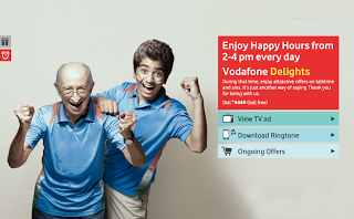 Vodafone Happy Hour Offer : Get free 100 MB 3G data from Vodafone