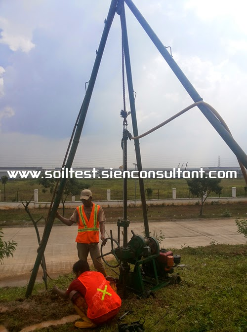 Soil Testing Geotechnical Engineering Tes Tanah Uji Sondir Cpt Bor Dalam Spt Bor Test Deep Boring Spt