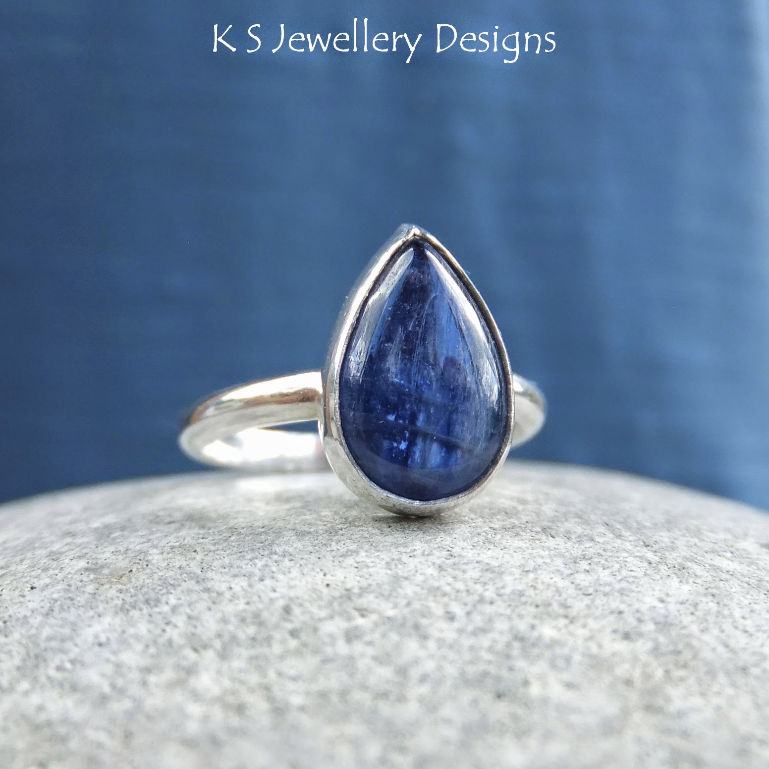 http://ksjewellerydesigns.co.uk/ourshop/prod_3261015-Kyanite-Sterling-Silver-Teardrop-Gemstone-Ring-MADE-TO-ORDER.html