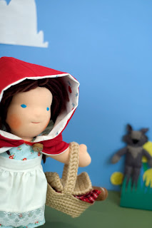 Waldorf Dolls Little Red Riding Hood  All-natural toy