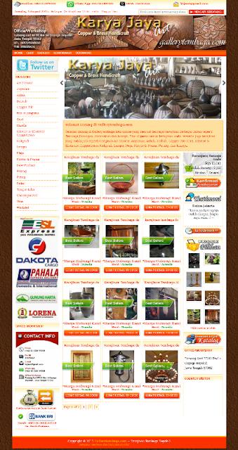 Website toko online kerajinan tembaga Boyolali
