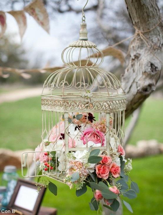 Con b de boda tendencia jaulas para tu boda for Decoracion con jaulas