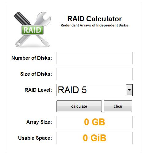 Itechnology Blog Raid Storage Utilization Calculator