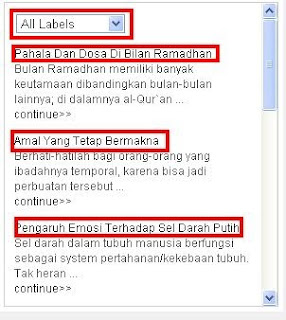 Widget Recent Post Berdasarkan label