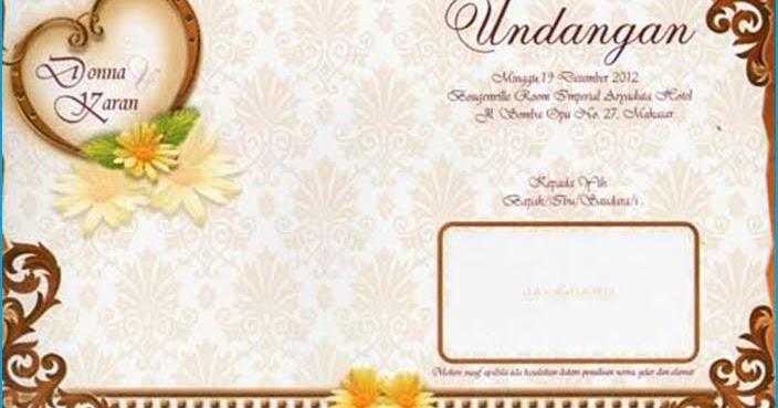 Contoh Undangan Pernikahan Terbaru 2013 | cadas
