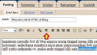 Menulis Link & HTML kode di Blog