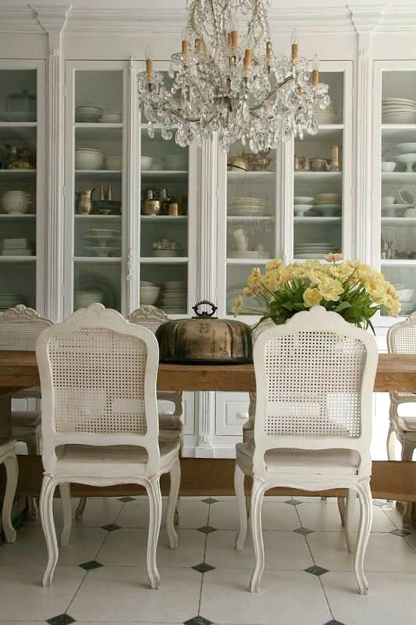 Distressed White Cane Chairs Have The Unique Ability To Look Fabulous In Both Rustic And Elegant Dining Rooms These French Provincial Pieces A Grand