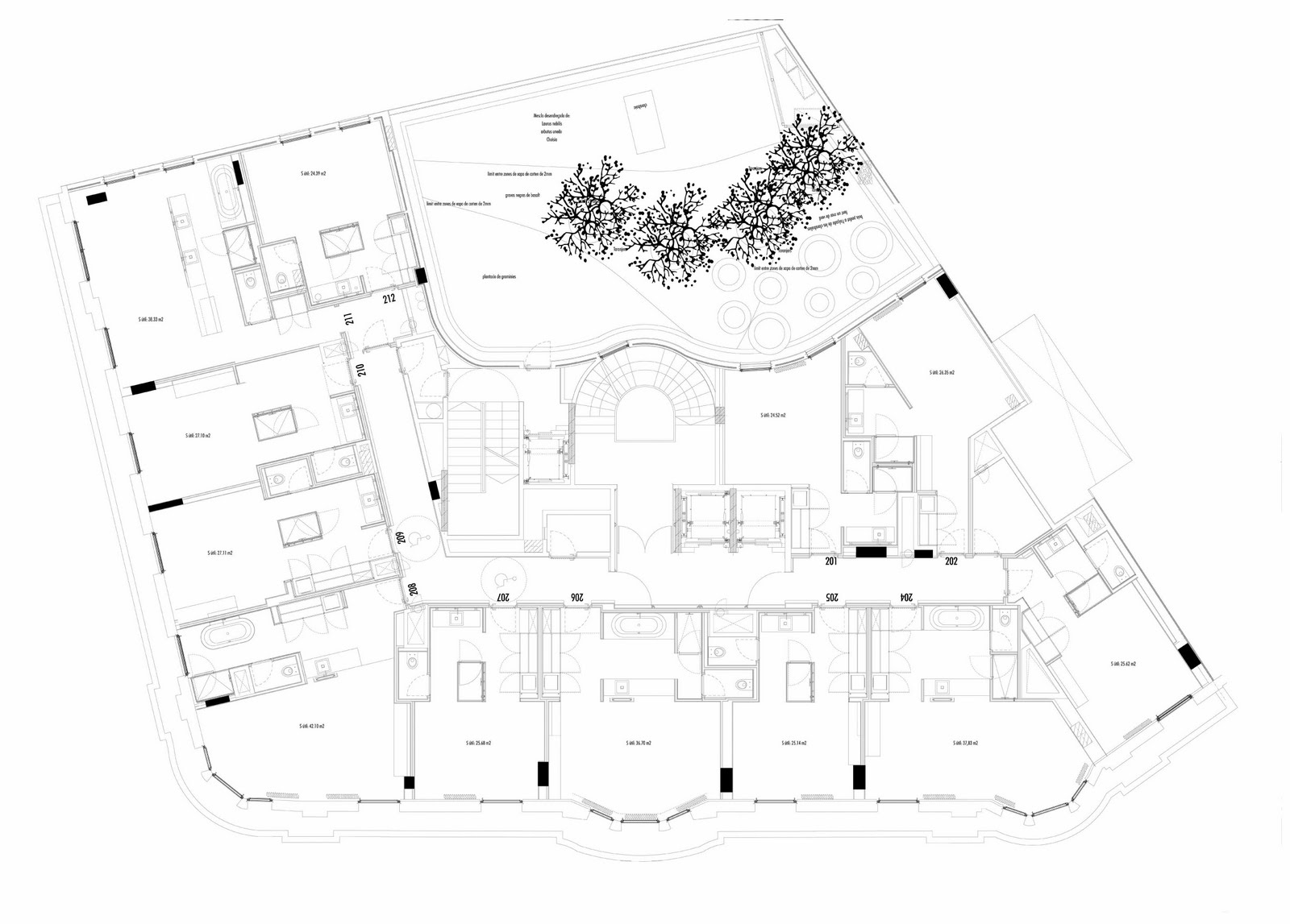 Arquitectura arquidea las fachadas del hotel ohla for Hoteles en planta