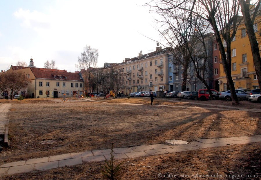 The old Jewish quarter of Vilnius, Lithuania