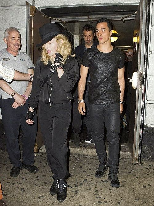 Her daughter, Lourdes Leon and her new boyfriend since January, Timor Steffens. Of course, the day included a private yacht and gold champagne - but let's be real, that is low-key for Madonna. The happy trio was spotted on Wednesday, August 6, 2014 in Cannes, France, where they celebrated yet another milestone for their friends.