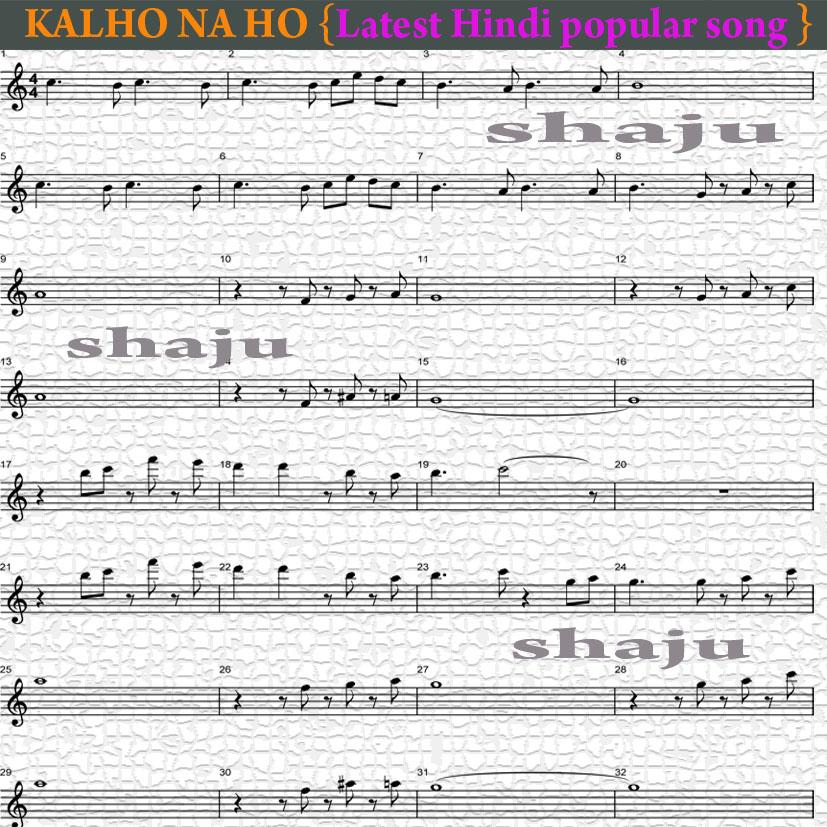 Shajus Guitar Lessons Kal Hona Ho Hindi Latest Song