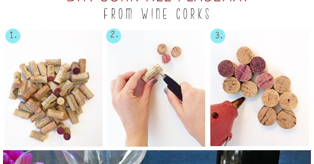 DIY: Cork Tile Placemat From Wine Corks