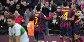 Video Gol Barcelona vs Elche 5 Januari 2014