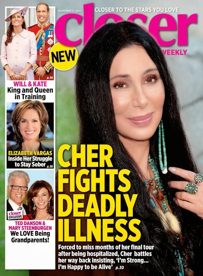 Cher on the cover of Closer Weekly