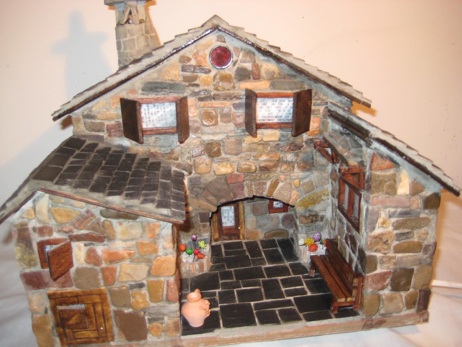 Casas de piedra en miniatura presentacion - Fotos de casas de madera y piedra ...