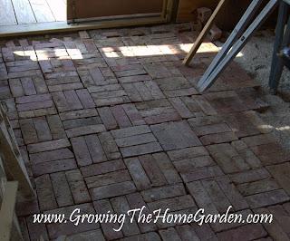 bricks for garden shed floor