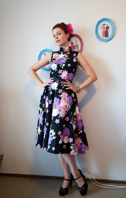 Asian inspired retro dress by Cherise