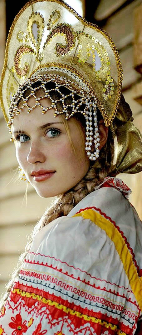 J. J. Haldane - Kokoshnik - Russian traditional headwear