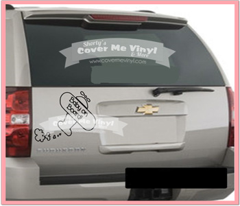 Baby On Board plane Decal