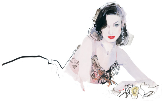 Dita Von Teese by David Downton