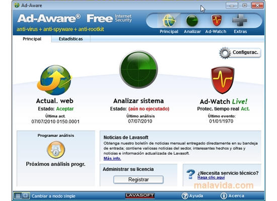 Download Ad-Aware Free Internet Security 9.5.0