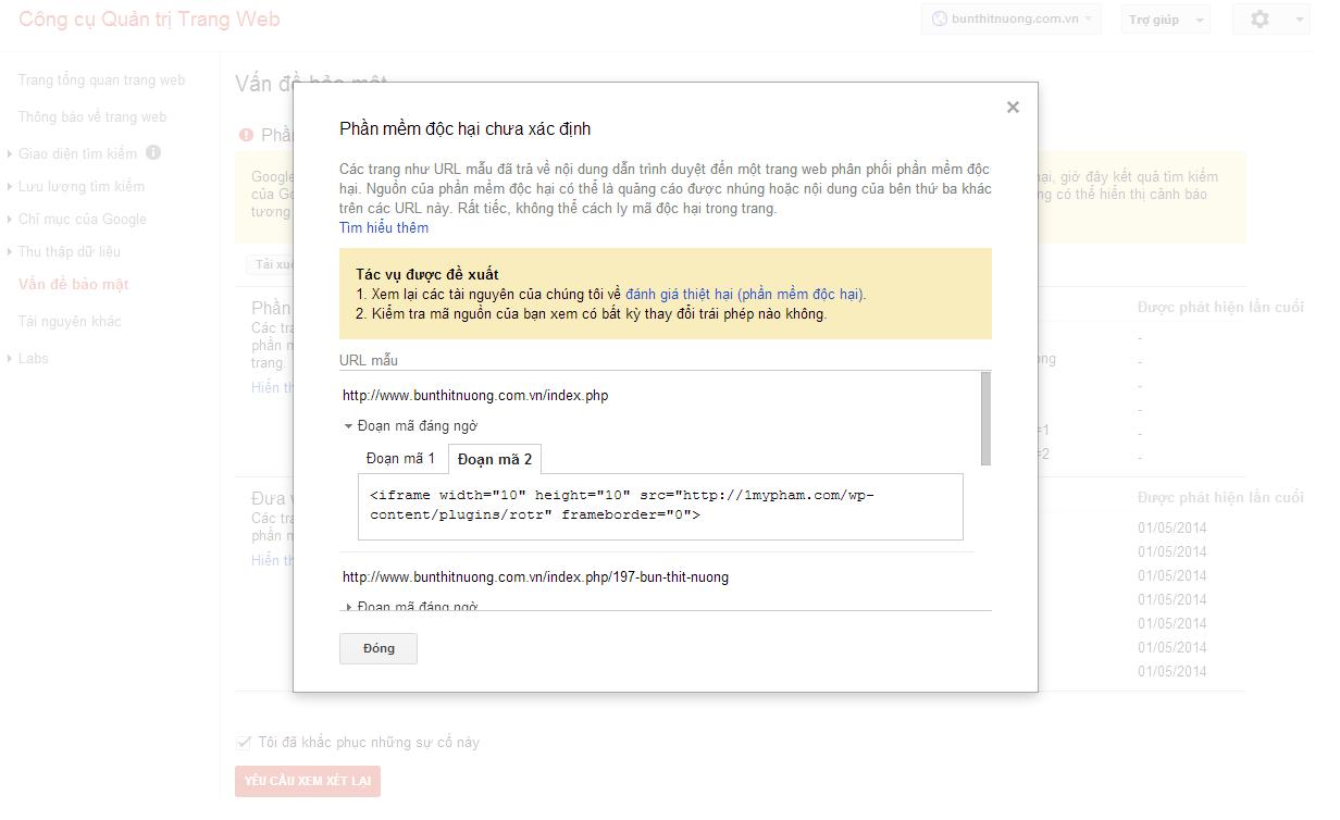 Cách khắc phục khi website bị google cảnh báo chứa phần mềm độc hại.
