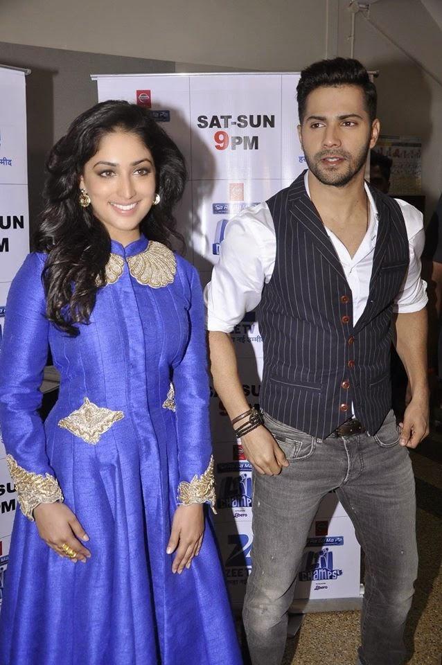 Varun Dhawan and Yami Gautam promote Badlapur on Sa Re Ga Ma Pa Li'l Champs