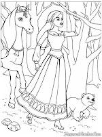 Barbie Berjalan Dihutan Bersama Magic Pegasus
