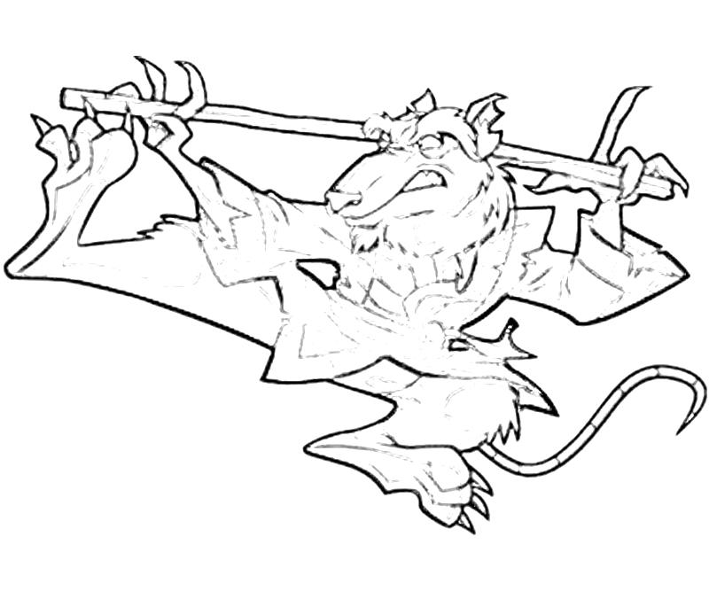 Printable TMNT Shredder Abilities Coloring Pages title=