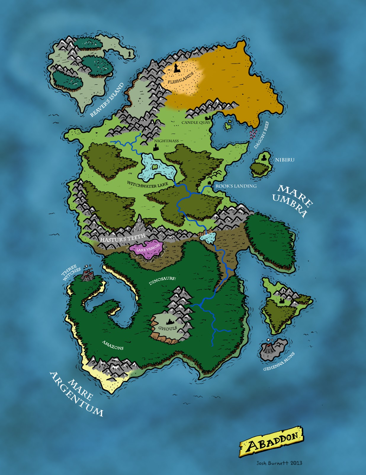 Bernie the flumph abaddon the map and some places of note with the groovy powers of modern technology i was easily able to make versions of the map with and without a hex grid gumiabroncs Gallery