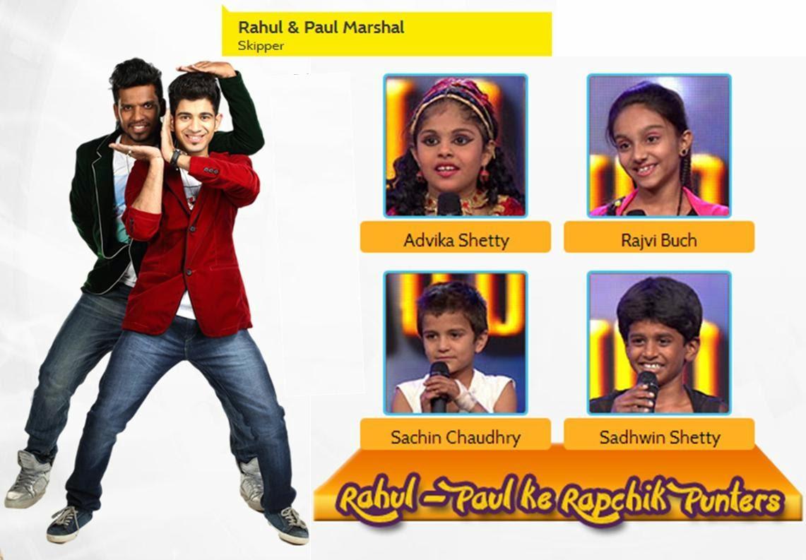 Rahul-Paul Ke Rapchik Punters in DID Little Masters Season 3
