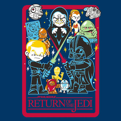 "Star Wars ""Cute Return of the Jedi"" T-Shirt by Super7 & Jerome Lu of Hyperactive Monkey"