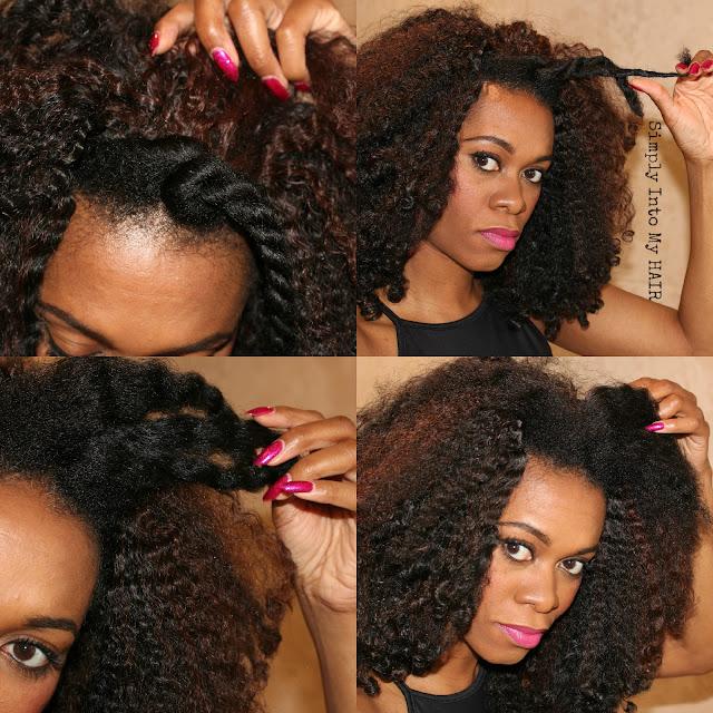 Fingercomber Kinky Kurl 4a, 4c natural hair HHJ Protective style