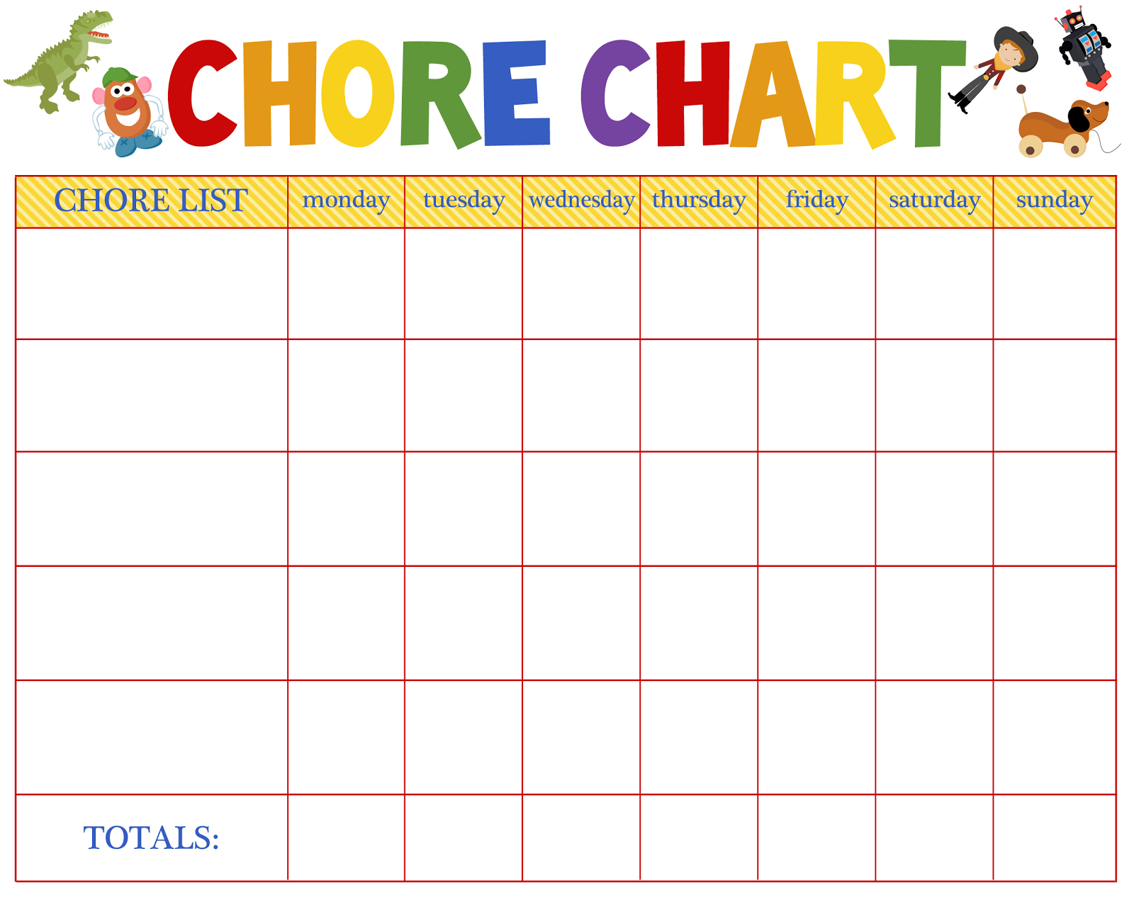 HD wallpapers printable blank childrens chore charts