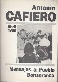 """Libro """"Mensaje al pueblo bonaerense"""""""